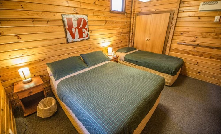 YHA Mt Cook family cabin double and single