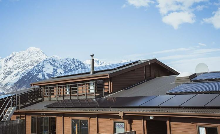YHA Mt Cook back exterior with landscape
