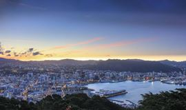 YHA wellington view from mt victoria at dawn