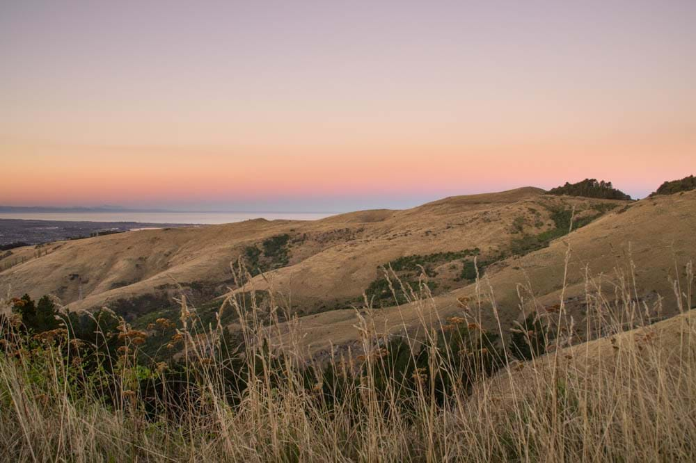 Views of the Port Hills, Christchurch