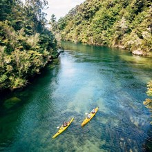 Two kayaks in Abel Tasman