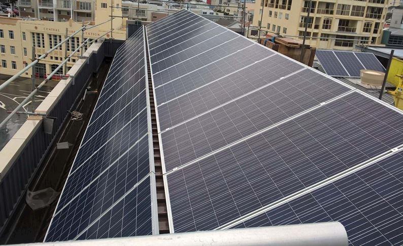 Solar panels are installed at YHA Wellington hostel