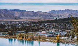 YHA Lake Tekapo under construction on the lakefront by Xiaobei Han