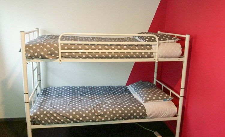 YHA Nelson bedroom with bunk beds