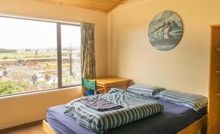 YHA National Park family room with double bed and bunks