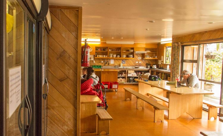 YHA National Park main kitchen and dining area