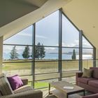 YHA Lake Tekapo interior lounge with lakeview