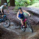Couple from YHA Rotorua Mountain Biking in New Zealand,